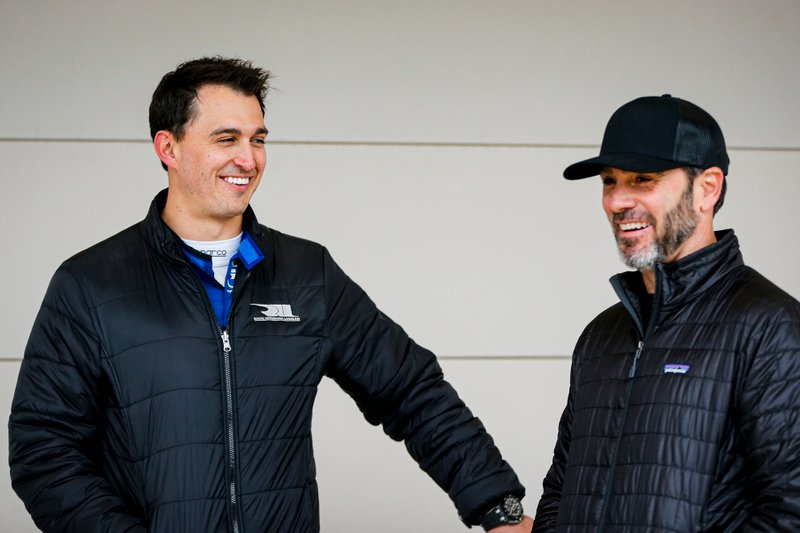 Graham Rahal, Rahal Letterman Lanigan Racing Honda y Jimmie Johnson