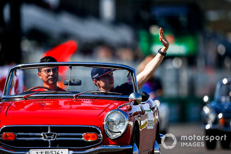 Max Verstappen, Red Bull Racing, in the drivers parade