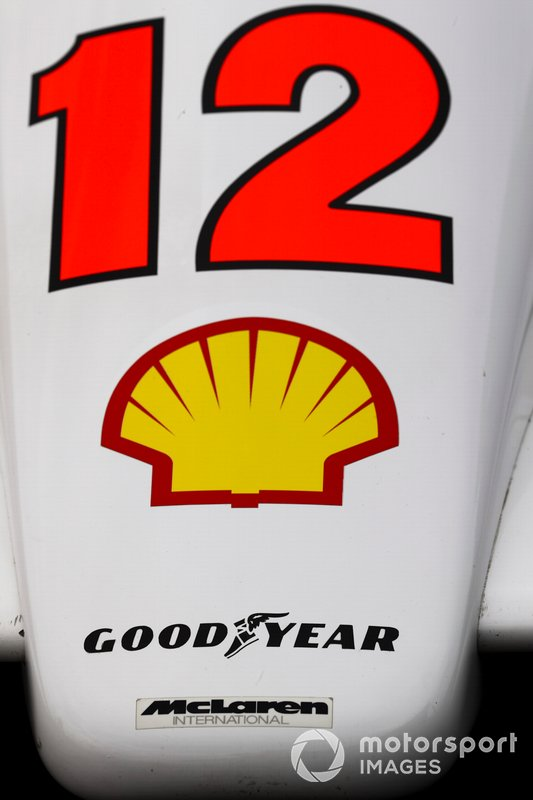 Number 12 logo on McLaren MP4/4