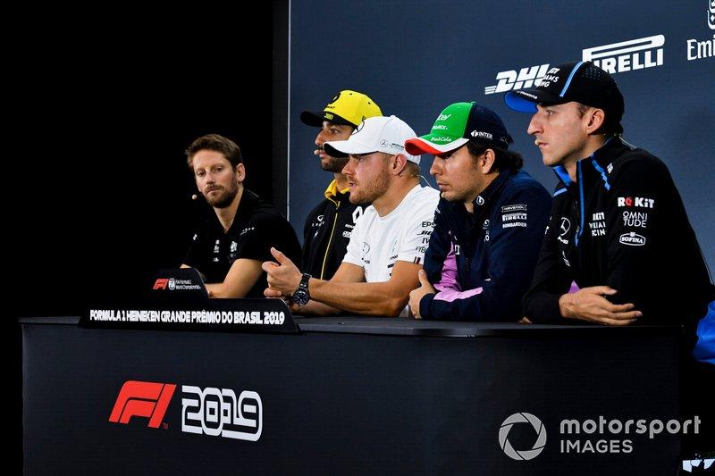 Romain Grosjean, Valtteri Bottas, Sergio Perez, Robert Kubica - Konferencja prasowa