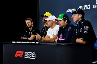 Conferencia de prensa Romain Grosjean, Haas F1, Daniel Ricciardo, Renault F1 Team, Valtteri Bottas, Mercedes AMG F1, Sergio Pérez, Racing Point y Robert Kubica, Williams Racing