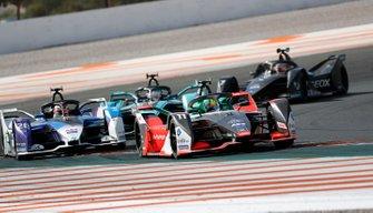 Lucas Di Grassi, Audi Sport ABT Schaeffler, Audi e-tron FE06, Maximilian Gunther, BMW I Andretti Motorsports, BMW iFE.20, James Calado, Jaguar Racing, Jaguar I-Type 4