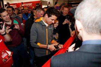 Lando Norris, McLaren cuts the ribbon to open Autosport International 2020
