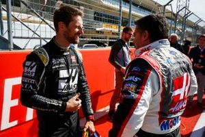 Romain Grosjean, Haas F1 Team Team, and NASCAR legend Tony Stewart