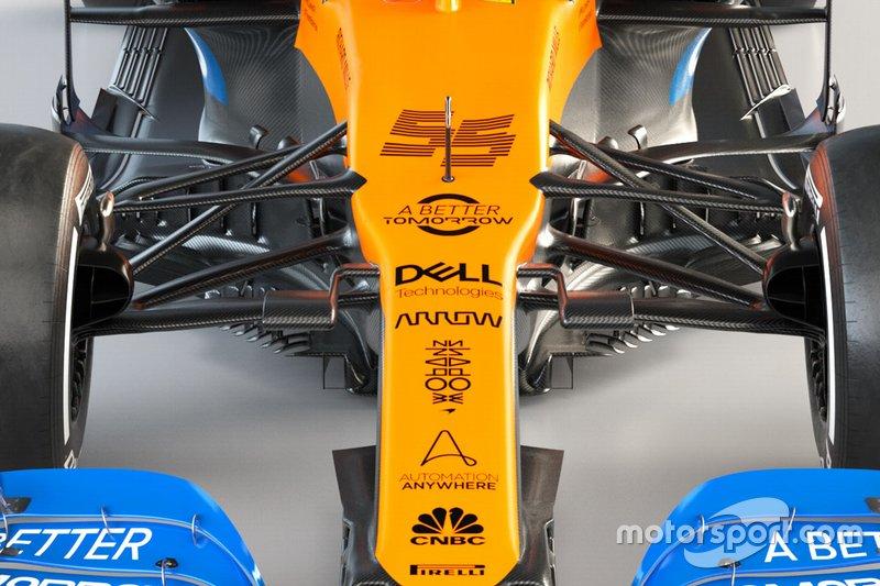 Vue détaillée de la McLaren MCL35