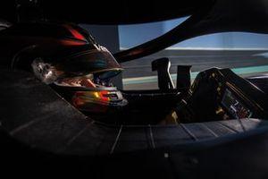 Stoffel Vandoorne, Mercedes AMG Simulator in Silverstone