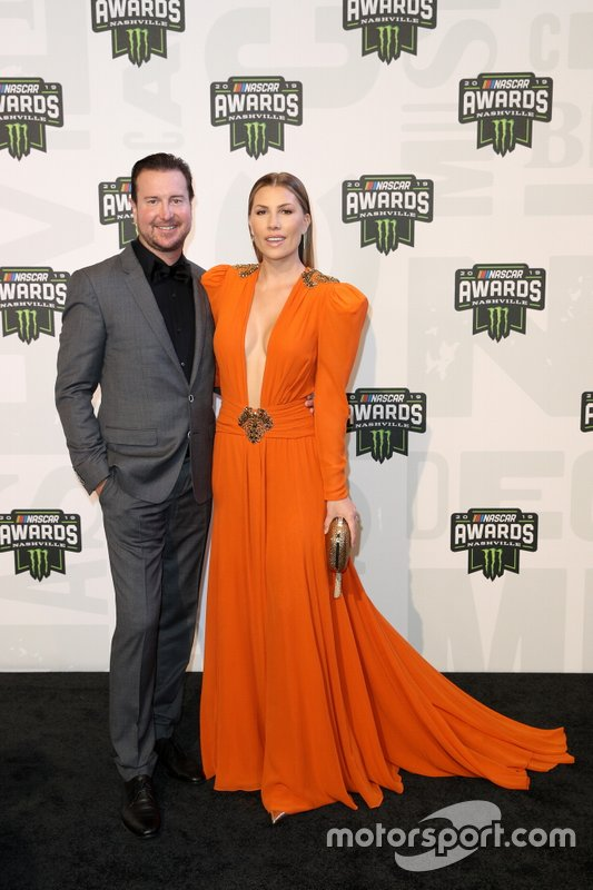 Kurt Busch y su esposa Ashley