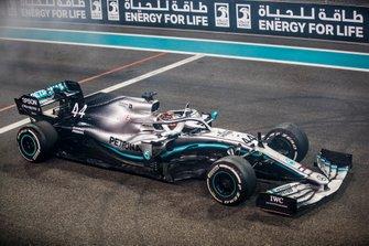Il vincitore della gara Lewis Hamilton, Mercedes AMG F1 W10