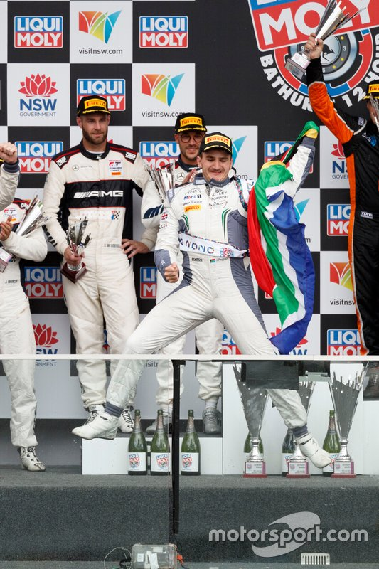 Podium: winner #7 Bentley Team M-Sport Bentley Continental GT3: Jordan Pepper