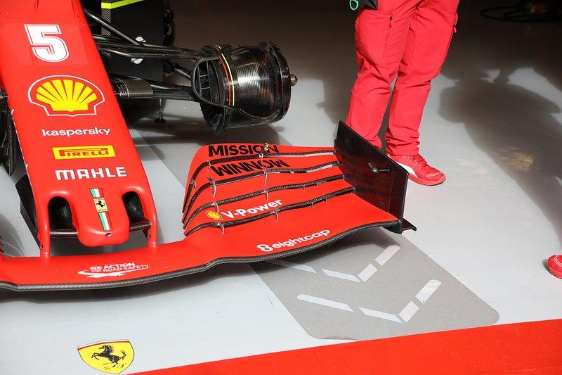 L'aileron avant de la Ferrari SF1000