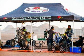 Джованни Энрико (№267) и Итало Педемонте, Enrico Racing Team, Yamaha 700 Raptor (№268)