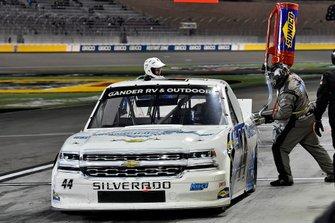 Natalie Decker, Niece Motorsports, Chevrolet Silverado Remarkable Pillow, makes a pit stop