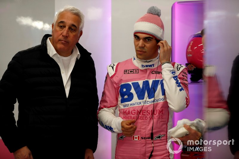 Lawrence Stroll, propriétaire de Racing Point et Lance Stroll, Racing Point