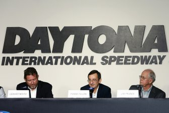 Pierre Fillon, ACO President, Jim France, IMSA Chairman, Gerard Neveu, FIA WEC CEO