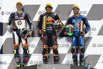 Podium: race winner Tetsuta Nagashima, Red Bull KTM Ajo, second place Lorenzo Baldassarri, Pons HP40, third place Enea Bastianini, Italtrans Racing Team