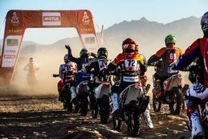 Partenza Rally: #61 Yamaha: Anthony Boursaud, #65 Yamaha: Guillaume Chollet, #66 KTM: Abdullah Al Shatti, #70 KTM: Mishal Alghuneim, #72 KTM: Philippe Gendron, #69 KTM: Florent Vayssade