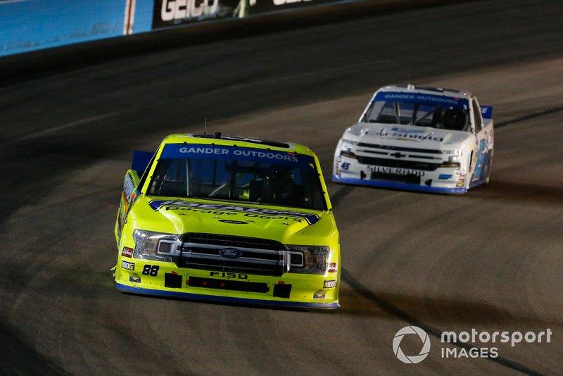 Matt Crafton, ThorSport Racing, Ford F-150 Ideal Door/Menards and Ross Chastain, Niece Motorsports, Chevrolet Silverado CarShield