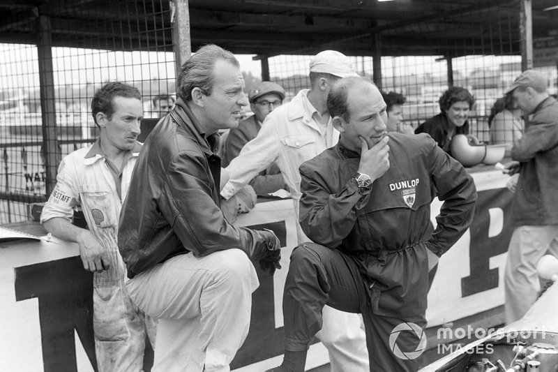 Harry Schell en Stirling Moss, de Grand Prix van Groot-Brittannië 1959