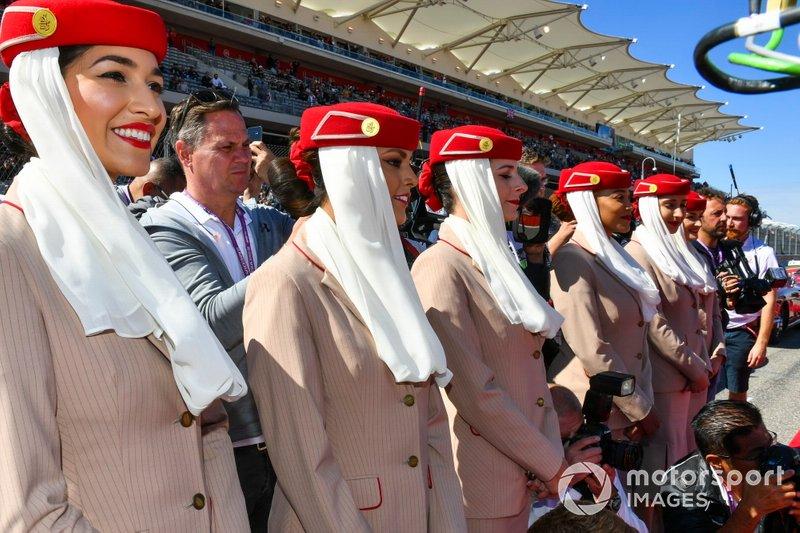Flight attendants at the drivers parade