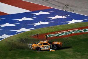 David Starr, Means Motorsports, Chevrolet Camaro Whataburger, crash