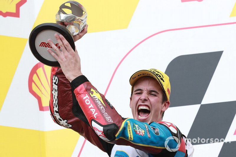 Podium: second place Alex Marquez, Marc VDS Racing