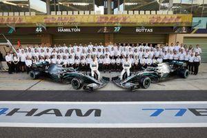 Lewis Hamilton, Mercedes AMG F1, Valtteri Bottas, Mercedes AMG F1, and the 2019 Mercedes F1 Team