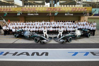 Lewis Hamilton, Mercedes AMG F1, Valtteri Bottas, Mercedes AMG F1, and the 2019 Mercedes F1 Team