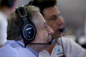 Jean Todt, President, FIA, and Toto Wolff, Executive Director (Business), Mercedes AMG