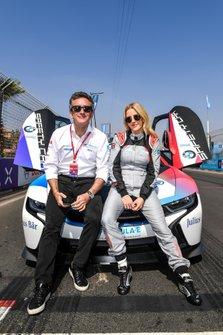 Singer Ellie Goulding with Alejandro Agag, Chairman of Formula E