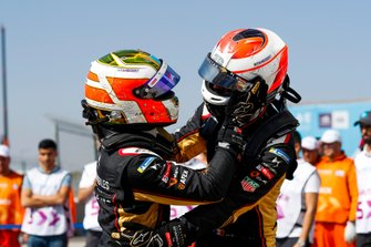 Race winner Antonio Felix da Costa, DS Techeetah, DS E-Tense FE20 with Jean-Eric Vergne, DS Techeetah, DS E-Tense FE20