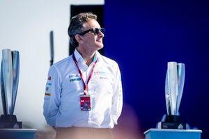 Alejandro Agag, président de la Formula E sur le podium