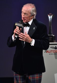 Sir Jackie Stewart, on stage to present a Gregor Grant Award