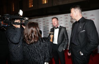 Guests are interviewed on arrival for the event