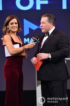 Zak Brown, Executive Director, McLaren, on stage to present the Moment of the Year award