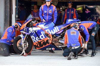 Red Bull KTM Tech 3 mechanics at work