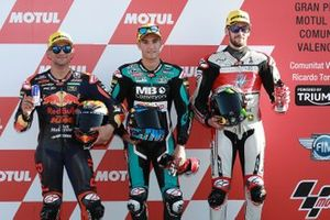 Polesitter Jorge Navarro, Speed Up Racing, second place Jorge Martin, KTM Ajo, third place Stefano Manzi, Forward Racing