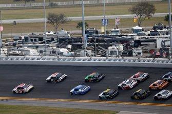 Harrison Burton, Joe Gibbs Racing, Toyota Supra Dex Imaging, Timmy Hill, Motorsports Business Management, Ford Mustang VSI Racing / RoofClaim.com