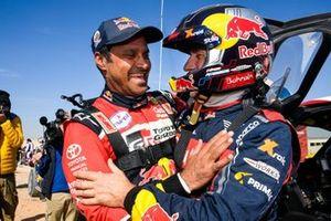 #300 Toyota Gazoo Racing: Nasser Al-Attiyah and #302 JCW X-Raid Team: Stephane Peterhansel