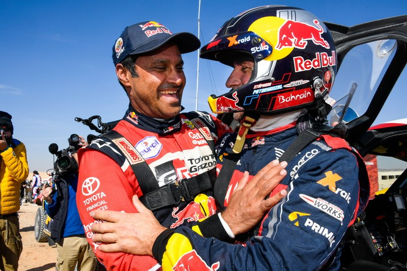 #300 Toyota Gazoo Racing: Nasser Al-Attiyah and #302 JCW X-Raid Team: Stephane Peterhansel