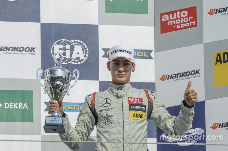 Podium: 3. George Russell HitechGP, Dallara F312 - Mercedes-Benz