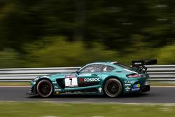 #7 AMG–Team Black Falcon Mercedes AMG GT3: Abdulaziz Al Faisal,