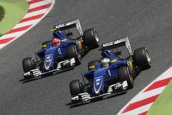 Marcus Ericsson, Sauber C35 y Felipe Nasr, Sauber C35