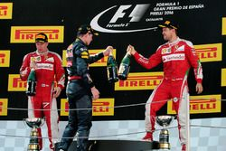 Podium: 1. Max Verstappen, Red Bull Racing; 2. Kimi Räikkönen, Scuderia Ferrari; 3. Sebastian Vettel