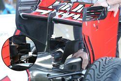 Detalle del alerón trasero de equipo de F1 de Haas VF-16