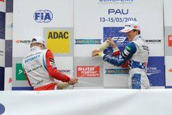 Podium: Ben Barnicoat, HitechGP Dallara F312 – Mercedes-Benz, Nikita Mazepin, HitechGP Dallara F312