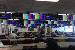 La salle de presse du circuit de l'Albert Park