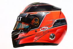 Le casque d'Esteban Ocon, pilote de réserve Renault Sport F1 Team