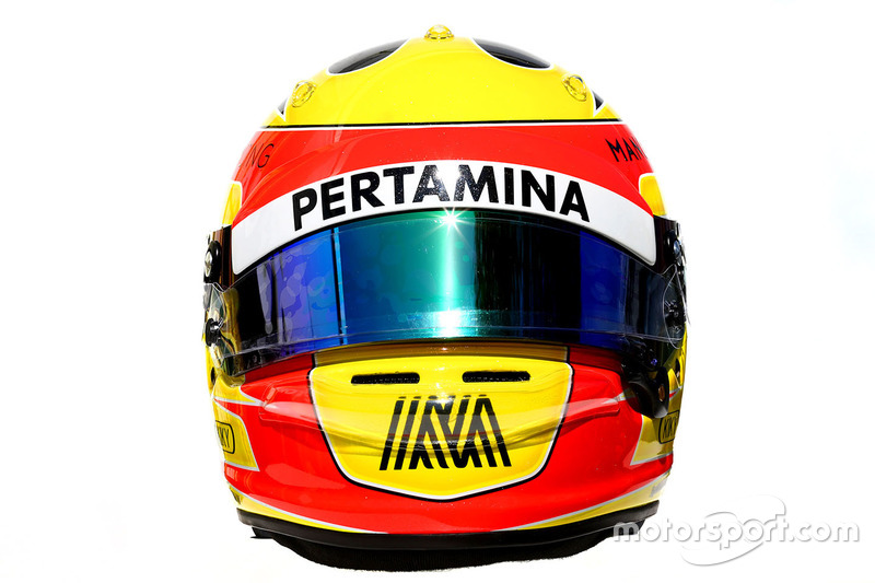 Le casque de Rio Haryanto, Manor Racing