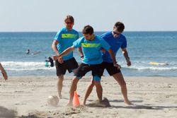 Augusto Farfus, Antonio Felix da Costa and Marco Wittmann, Beach Soccer