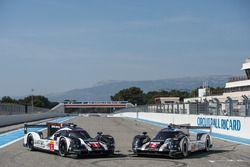 #1 Porsche Team Porsche 919 Hybrid: Timo Bernhard, Mark Webber, Brendon Hartley and #2 Porsche Team